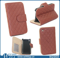 Case for iPhone 3Gs Wallet Case PU Leather + Stand function + Photo and Cards Slots + Free Touch Pen Gift