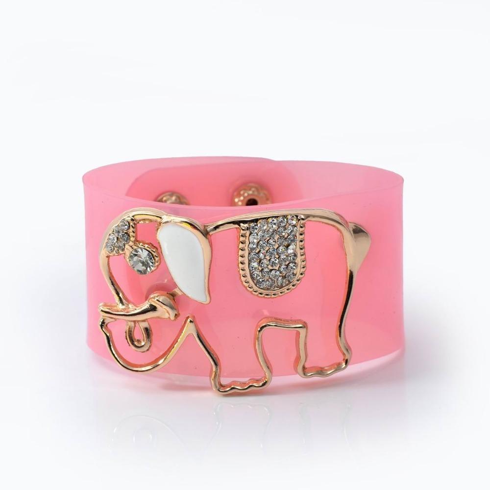Summer trendy animal customized rubber cuff bracelet & bangles cute elephant neon color custom plastic wristbands jewelry(China (Mainland))