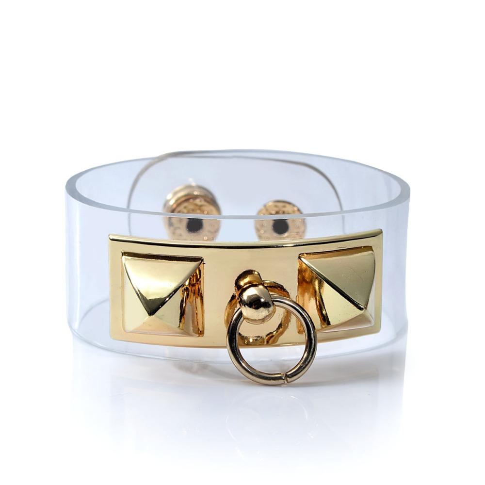 Women PVC Transparent Bracelet Cuff /CH Clear Wide Wristband Twist Lock Bangle Jelly Fashion Lady Hand plastic band bracelets(China (Mainland))