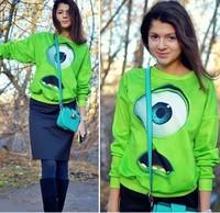 HOT! spring 3d sci-fi The aliens Casual sport suit Women Monsters University Print Cartoon Sportswear hoodies Women's Sweatshirt