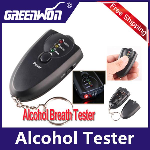 10pcs/lot mini alcohol tester/ alcohol detector with flashilight Breathalyzer startlight as portable gife pft61(China (Mainland))