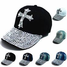 2014 nova preto bonés de beisebol chapéu de strass moda Hiphop Cap homens / women ' s Super qualidade Unisex Outdoor Hat Sport grátis frete(China (Mainland))