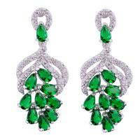 Fashion  Jewellery Vintage  Crystal Drop Chandelier Dangle Emareld  Earrings Earring