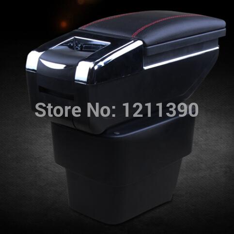 7 Generation Car Armrest Center Console Storage Box auto accessories for KIA Rio K2,2011- 2015(China (Mainland))