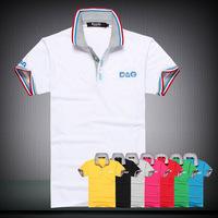 New 2014  Mens summer leisure t shirt fashion slim short sleeve T-shirt men size M-XXL ,bule,green,grey,black 4 color