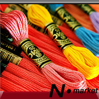 2014 Free Shipping 200 PCS / Lot Colorful Cross Stitch Embroidery Thread 8 Meters CXC Similar DMC Thread