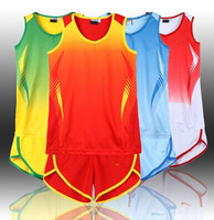The new track suit   women's training clothing suits running wear sportswear sweat absorbent breathable