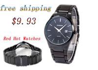 CURREN 8106 Men fashion Brand Watches Tungsten Steel boys Wristwatches Analog Quartz Man Fashion Clock Men's Watch (black)