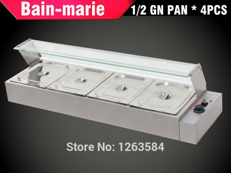 Free shipping GN 1/2 *4 NEW STAINLESS STEEL HOT FOOD WARMER BAIN MARIE INCL(China (Mainland))