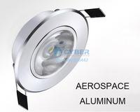 10pcs/Lot 3W LED Down Light Aluminum Materail 85-265V 270LM Celing Light #005 SV003012