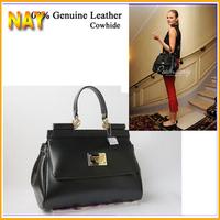 Guaranteed 100% Genuine Leather Women Messenger Bags Handbag Women Famous Brand Designers Tote New 2014
