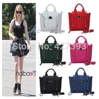 2014 new  fashion high quality leather small motorcycle bag women handbag mini shoulder bag messenger bag