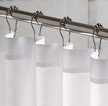 24 Pcs chuveiro rolo polido Satin anéis de cortina ganchos decoração do banheiro(China (Mainland))