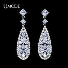 UMODE Multi-shape CZ inlaid Vintage Design Wedding Earrings UE0091(China (Mainland))