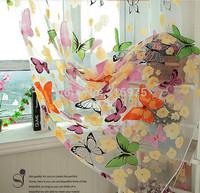 Butterfly Curtain Screens Butterfly Curtains Yarn For Windows Curtain Yarn Beautiful curtain yarn Free Shipping