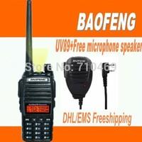 DHL Freeship+Baofeng UV-89 UV 89 Walkie Talk Dual display Dual band VHF136-174MHZ&UHF400-520MHZ 2 way radio UV89+free microphone