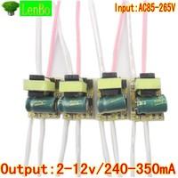 free shipping led driver10pcs/lot  for  3*1W lamp 3x1w driver Transformer AC 85-265V inside driver for LED DIY