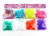 """Weave DIY Rubber band popular educational gift for children 300pcs/packs+12pcs""""S"""" Loom Bands kint Bracelet transparent color"""