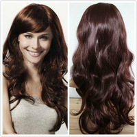 Free shipping-Big sale high quality ladies' synthetic hair wigs wavy style