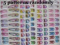 Cartoon Hair clips 5 cards(10pcs/card) Hello Kitty,Minne,Barbie,peppa pig mix children girl hairpins kid's accessories