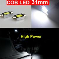 2pcs White High Power Canbus Festoon 31mm COB led 3022 3021 3175 6428 6430 4W Car Interior Lights Dome Door Licence Plate Light