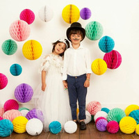 Wholesale - Free shipping 10pcs 6inches(15cm) Tissue Paper Flower ball/ Honeycomb Lantern Wedding Party festival decoration