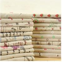 "25cm x 25cm (9.8""x9.8""),  20 pcs / lot ZAKKA linen cotton fabric home textile Home Deco. fabric No Repeat Design"