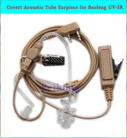 2 Pin Covert Acoustic Tube Earpiece Headset Mic Compatible For Kenwood Tk-208, Tk-220, Tk-240,  Baofeng UV-5R  radio