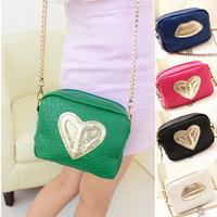 Bolsas femininas 2014 high quality women leather handbags brand small bag tote gold love,desigual  women messenger bags