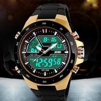 SKMEI 1016 Men Sports Watches Male Fashion Watch Casual Quartz Clock LED Digital Waterproof Military Wristwatches Drop Shipping