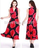 L, XL, XXL, XXXL, Many colors, 2014 spring summer plus size full dress