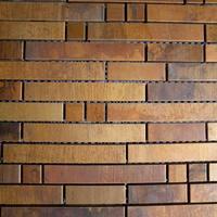 Mosaics tile antique striped metal copper tiles backsplash bronze mosaic bathroom kitchen wall sticker decorative fireplace tile