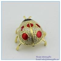2014 colorful ladybug Jewelry box crystal magestic jewelry box fashion vivid jewelry box SCJ085-2