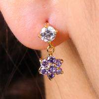 EJ-0099,Wholesale 2014 New Arrival Cute Flower Pink Stud 18k gold plated Earrings Fashion Jewelry
