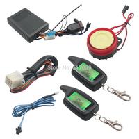 Economic universal LCD 2-way motorcycle alarm W remote engine start starter