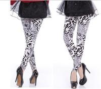 Printed Leggings casual fashion personality temperament elegant ladies pantyhose white tiger Leggings
