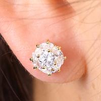 EJ-0116,Wholesale jewelry 18k gold plated with cz earring, popular design Brincos bijoux