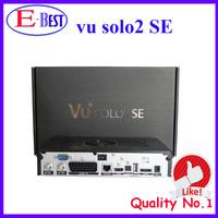 2pc/lot vu solo 2 se Original Software twin tuner Satellite Receiver Linux 1300 MHz CPU Mini Vu solo2 free shipping