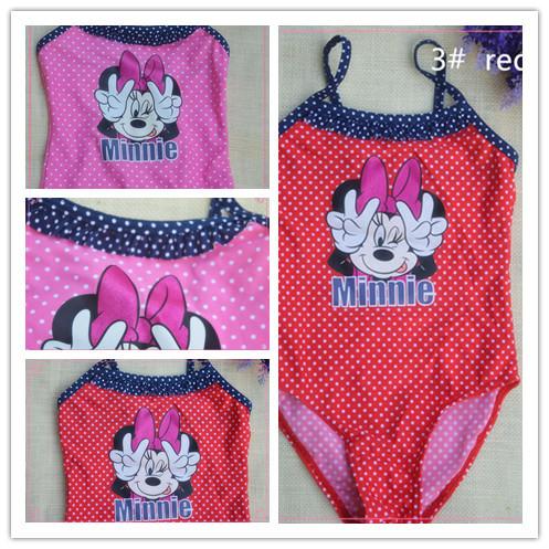 filhos de bebê meninas maiô vestidos minnie princesa nadar terno criança