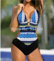 Sexy Bohemia Exotic blue One Piece MONOKINI SWIMSUIT SWIMWEAR size M L XL Free shipping shipping