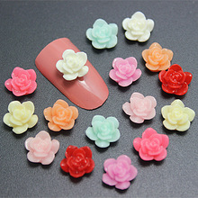 200pcs/lot free shipping! 8mm mix colors resin little rose flower flat back cabochon for DIY jewelry,nail art decoration