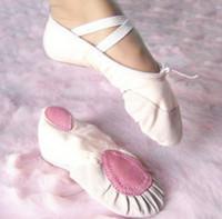 Min. order qty 2pairs pls Size23~44 15~26cm children soft sole girls ballet shoes Women Ballet Dance Shoes for kids adult ladies
