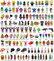 Free DHL/EMS Mix Order Cartoon USB Flash Drive Pen Drive USB Memory Stick 2gb 4gb 8gb 16gb 32gb wholesale 30pcs/lot