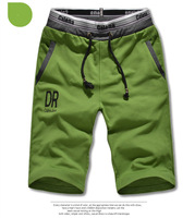 2014 special offer straight flat active mid cotton brand new summer men's shorts solid color big yards