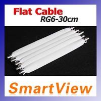 50pcs Flat Coaxial Cable RG6 RG-6 DOOR RV WINDOW Length 30cm FEDEX free Shipping