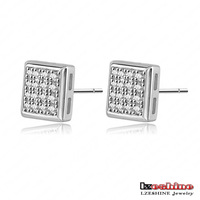 Shiny Sexy Women Earring New 18K Gold /Platinum Plate Pave AAA Swiss Cubic Zirconia Small Cute Earrings Stud Wholesale CER0111
