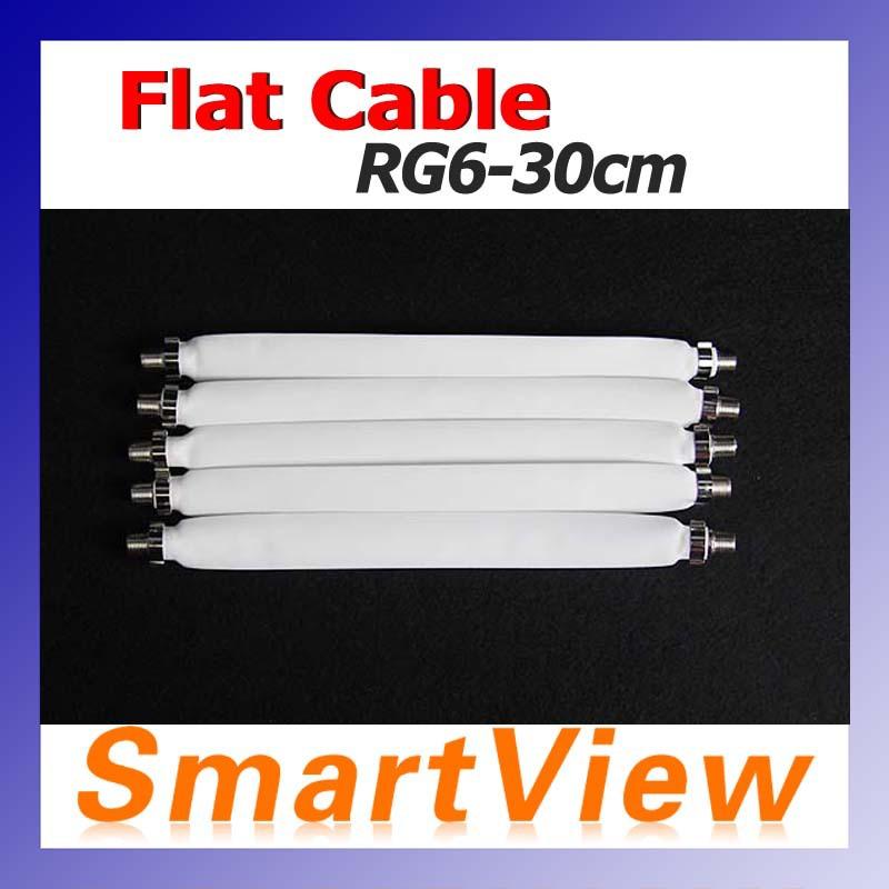 20pcs Flat Coaxial Cable RG6 RG-6 DOOR RV WINDOW Length 30cm free Shipping post(China (Mainland))