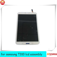 FOR Samsung Galaxy Tab 3 8.0 SM-T310 LCD Screen + Digitizer Assembly with Front Housing full display screen  WITHE