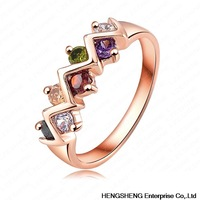 2014 New Color Ring 18K Rose Gold/Platinum Plating Genuine Zircon Trendy Ring Jewelry RIC0032