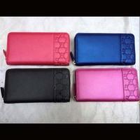 brand women money wallets genuine leather women wallets 2014 new women purse solid long design women wallets